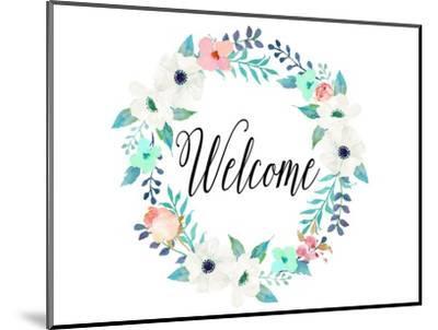 Welcome Teal and Pink-Tara Moss-Mounted Premium Giclee Print