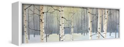 Winter Birch Forest-Julie Peterson-Framed Stretched Canvas Print