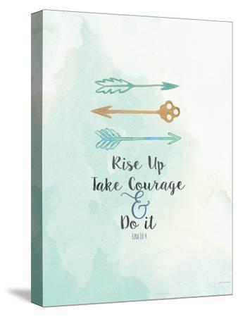 Take Courage-Jo Moulton-Stretched Canvas Print