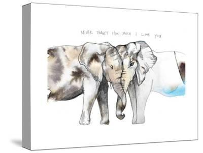 Never Forget-Nina Dogmetchi-Stretched Canvas Print