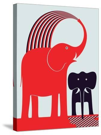 Red Elephant-Greg Mably-Stretched Canvas Print