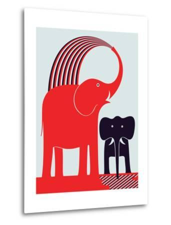 Red Elephant-Greg Mably-Metal Print