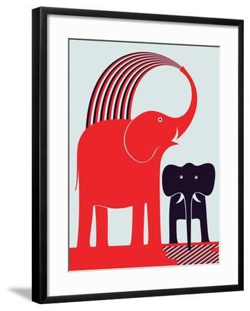 Red Elephant-Greg Mably-Framed Giclee Print