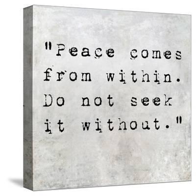 Inspirational Quote By Siddhartha Gautama (The Buddha) On Earthy Background-nagib-Stretched Canvas Print