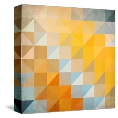 Abstract Triangles Geometry-art_of_sun-Stretched Canvas Print