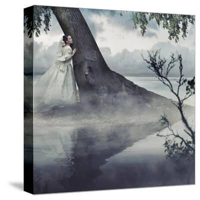 Fine Art Photo Of A Woman In Beauty Scenery-conrado-Stretched Canvas Print