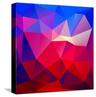 Bright Geometric Background- Bellenixe-Stretched Canvas Print