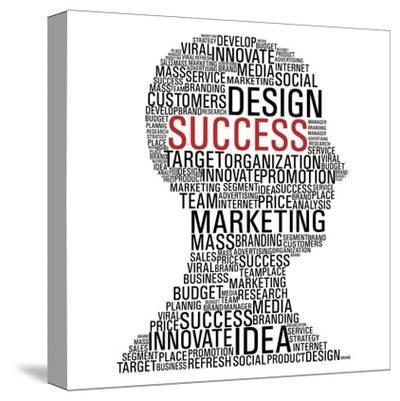 Marketing Success Head Communication-cienpies-Stretched Canvas Print