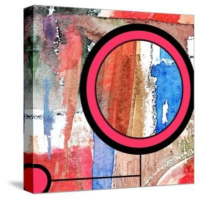 Abstract Art Collage, Mixed Media And Watercolor On Paper-Andriy Zholudyev-Stretched Canvas Print