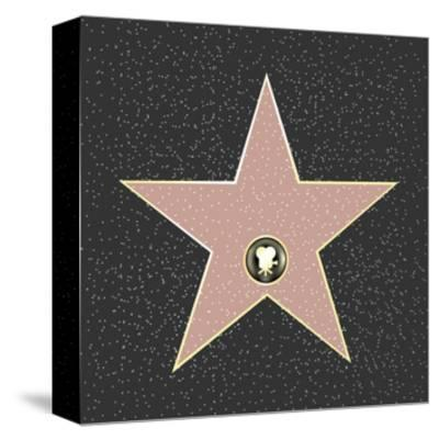 Walk Of Fame Type Star-barbaliss-Stretched Canvas Print