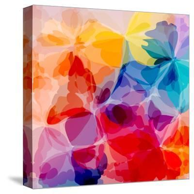 Multicolored Background Watercolor Painting-epic44-Stretched Canvas Print