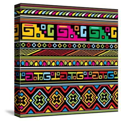 African Pattern Color- valeriya-Stretched Canvas Print