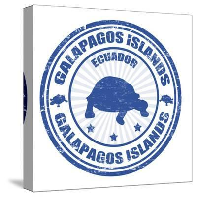 Galapagos Islands Stamp-radubalint-Stretched Canvas Print