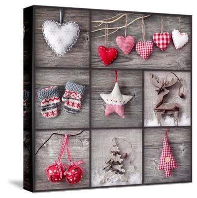 Christmas Collage-egal-Stretched Canvas Print
