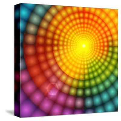Abstract Colorful Shining Circle Tunnel Background-art_of_sun-Stretched Canvas Print