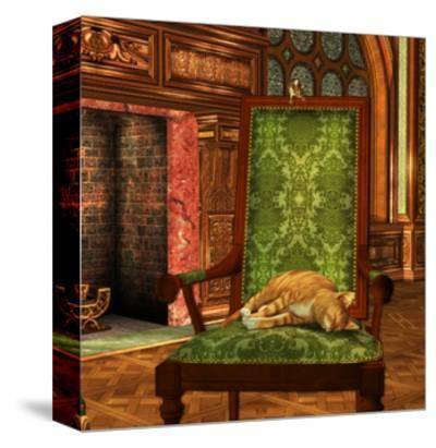 Cat And Mouse At Home-Atelier Sommerland-Stretched Canvas Print