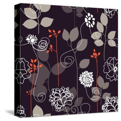 Floral Seamless Background-Danussa-Stretched Canvas Print