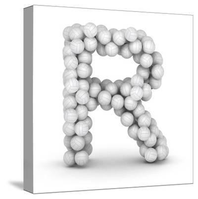 Letter R, From Voleyballs-iunewind-Stretched Canvas Print