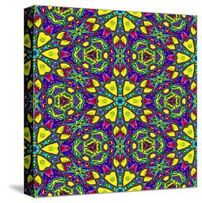 Floral Kaleidoscope Pattern-PandaWild-Stretched Canvas Print