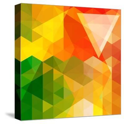 Colorful Mosaic Background Made Of Triangle Shapes-OlgaYakovenko-Stretched Canvas Print