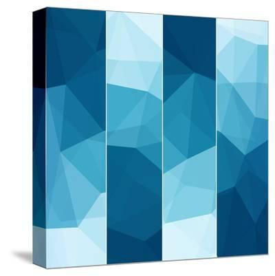 Set of Abstract Blue Background-epic44-Stretched Canvas Print