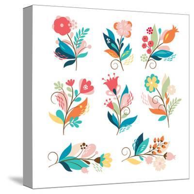 Floral Set-lenlis-Stretched Canvas Print