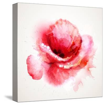 The Flowering Red Poppy-artant-Stretched Canvas Print