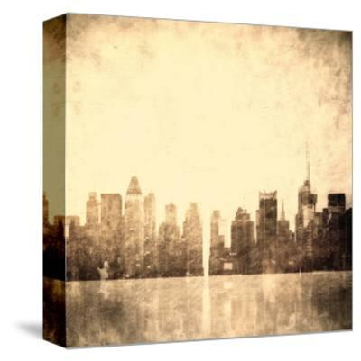Grunge Image Of New York Skyline-javarman-Stretched Canvas Print