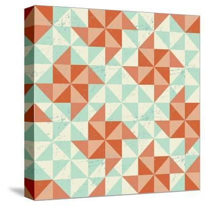 Seamless Geometric Pattern With Origami Elements-incomible-Stretched Canvas Print