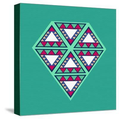 Geometric Diamond Composition-cienpies-Stretched Canvas Print