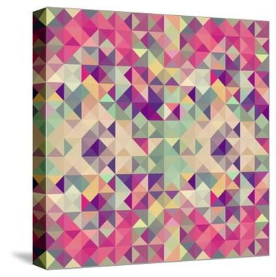 Pink Geometric Pattern-cienpies-Stretched Canvas Print