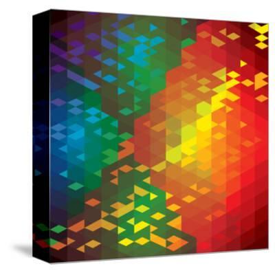 Abstract Colorful Of Geometric Shapes-smarnad-Stretched Canvas Print