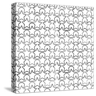 Seamless Pattern With Ink Stars Drawing-Swill Klitch-Stretched Canvas Print