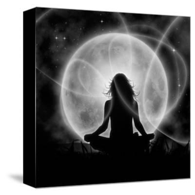 Moon Meditation-Detelina-Stretched Canvas Print