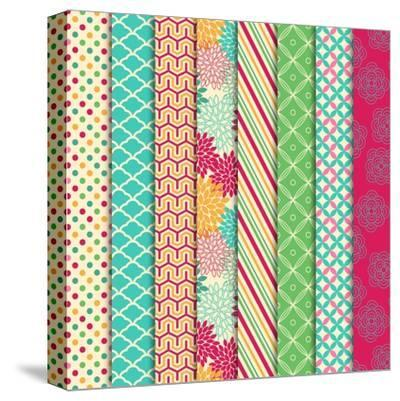 Collection of Bright and Colorful Backgrounds or Digital Papers-Pink Pueblo-Stretched Canvas Print