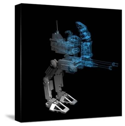 Robot-sauliusl-Stretched Canvas Print