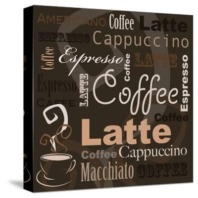 Coffee-leeser-Stretched Canvas Print