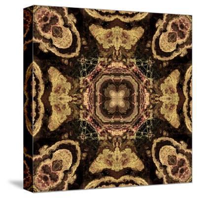 Art Nouveau Geometric Ornamental Vintage Pattern in Beige and Brown Colors-Irina QQQ-Stretched Canvas Print