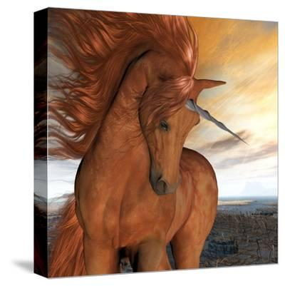 Burnt Sky Unicorn-Corey Ford-Stretched Canvas Print