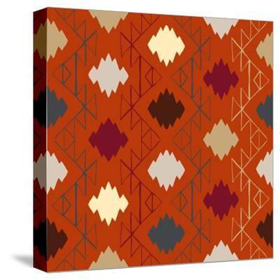 Vector Navajo Tribal Ornament-tukkki-Stretched Canvas Print