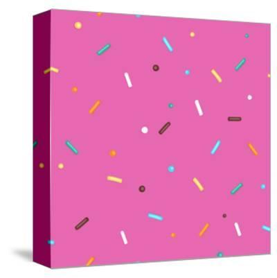 Pink Background Donut-Evgeny Bakal-Stretched Canvas Print