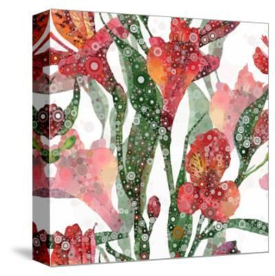 Abstract Floral Pattern-mika48-Stretched Canvas Print