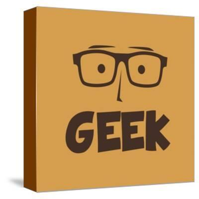 Geek Guy-vector1st-Stretched Canvas Print
