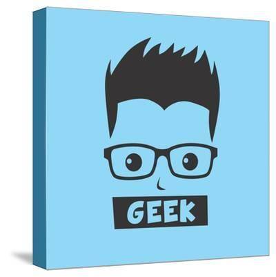 Geek Cartoon Character-vector1st-Stretched Canvas Print