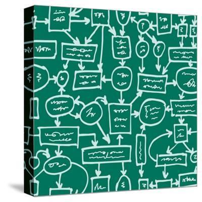 Crazy Management Flowchart-YKh-Stretched Canvas Print