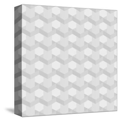Seamless Texture of Grey to White Squares-Little_cuckoo-Stretched Canvas Print