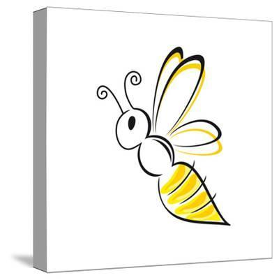 Bee Stylized-talitha-Stretched Canvas Print