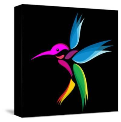 Hummingbird-yod67-Stretched Canvas Print