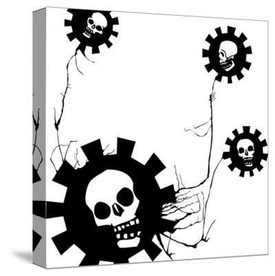Flower Of Evil #1-JeffreyThompson-Stretched Canvas Print