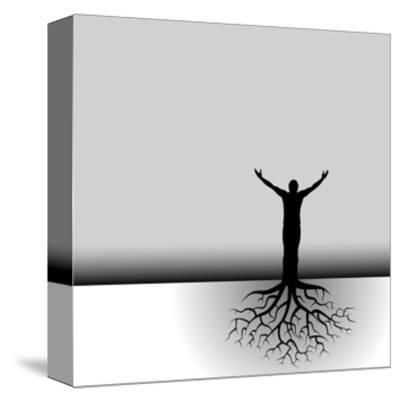 Tree Man Roots-mike301-Stretched Canvas Print